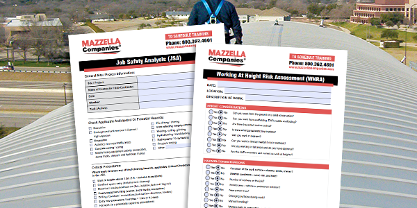 job safety analysis and working at height risk assessment